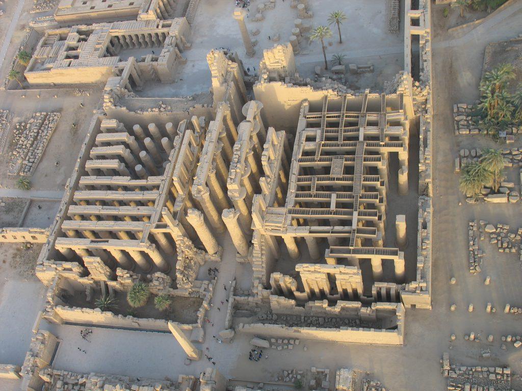 Karnak (Égypte), vue du ciel