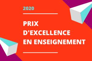 annonce des prix d'excellence en enseignement 2020