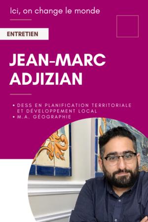 Jean-Marc Ajizian, diplômés de géographie